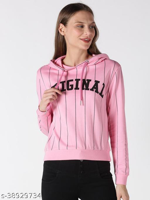 UrGear Full Sleeve Striped Women Sweatshirt