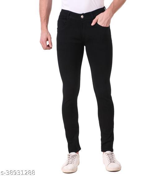"""""""JAC FASHION"""" Men Regular Fit Black Jeans (Pack of 1, BLK)"""