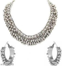 Black beads payal choker necklace