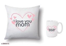 Trendy Beautiful  Printed Mug With Cushion Cover Combo