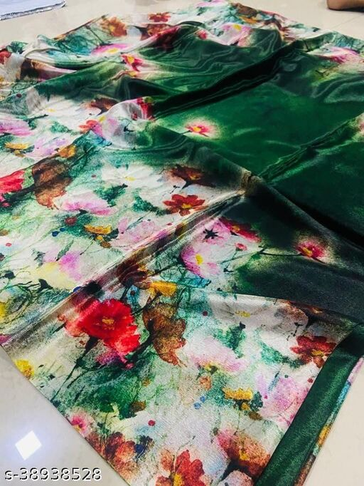 Crepe Silk With All Over Digital Print saree