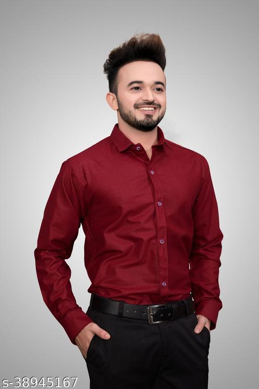 plain solid color formal shirts for mens