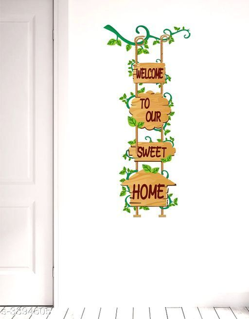 Sticker Hub Welcome To Our Sweet Home  Wall Sticker PVC Vinyl Standard Size - 61cm X 120cm Color-Multicolor,