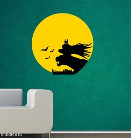 Sticker Hub Night Batman Wall Sticker PVC Vinyl Standard Size - 59cm X 59cm Color-Multicolor,