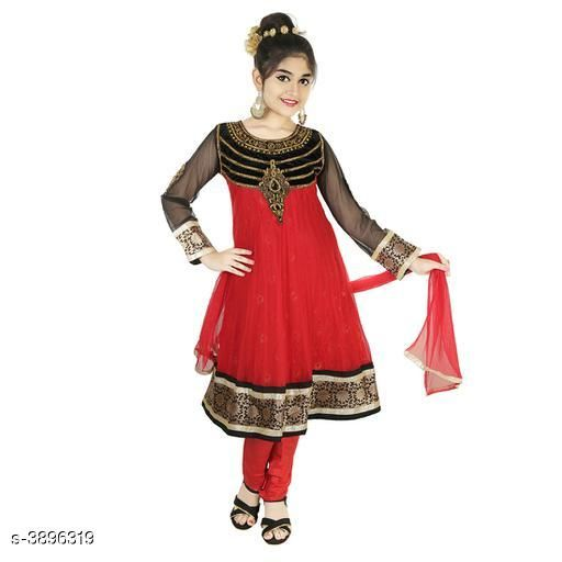 Salwar Suit Sets Adorable Kid's Girl's Salwar Suit Sets  *Fabric* Net and Zardosi  *Sleeves* Sleeves Are Not Included  *Size* Age Group (7 - 8 Years) - 28 in Age Group (9 - 10 Years) - 30 in Age Group (10 - 11 Years) - 32 in Age Group (12 - 13 Years) - 34 in Age Group (14 - 15 Years) - 36 in Age Group (15 - 16 Years) - 38 in  *Type* Stitched  *Description* It Has 1 Piece Of Kid's Girl's Salwar, 1 Piece Of Girl's Suit & 1 Piece Of Girl's Dupatta  *Work* Embroidery  *Sizes Available* 7-8 Years, 9-10 Years, 10-11 Years, 11-12 Years, 12-13 Years, 13-14 Years, 14-15 Years, 15-16 Years *   Catalog Rating: ★4.2 (22)  Catalog Name: Adorable Kid'S Girl'S Salwar Suit Sets Vol 18 CatalogID_548166 C61-SC1138 Code: 996-3896319-
