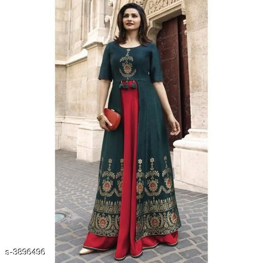 Printed Multicolor Maxi Rayon Dress