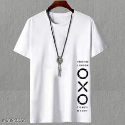 Fashion Globe Best Selling  Printed Half Sleeves  T' shirt for man