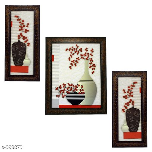 Paintings & Posters Stylish Wall Paintings (Set Of 3)  *Material* Wood and Plastic 