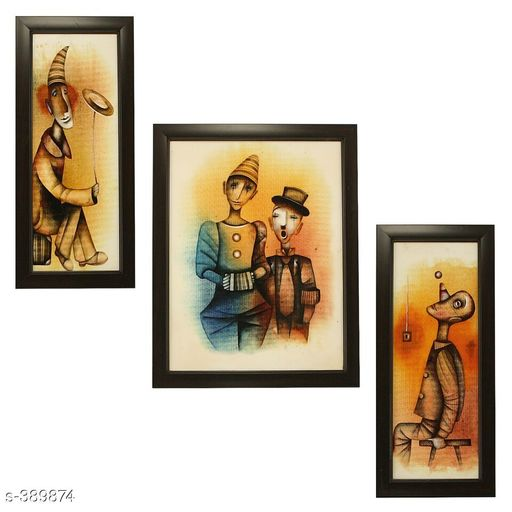Paintings & Posters Stylish Wall Paintings (Set Of 3)  *Material* Wood and Plastic   *Dimension(LxW)* Frame 1 - 12.5 in X 5.2 in, Frame 2 - 12.5 in X 9.5 in, Frame 3 - 12.5 in X 5.2 in   *Description* It Has 3 Pieces Of Frames With Paintings   *Work* Printed  *Sizes Available* Free Size *   Catalog Rating: ★4.1 (2025)  Catalog Name: Spiritual Wall Paintings Vol 9 CatalogID_41993 C127-SC1611 Code: 313-389874-