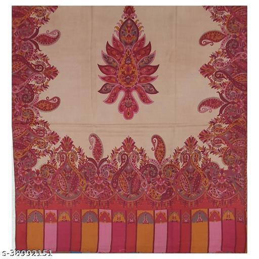 Stylist pollywool,  printed   Multicolor Woman Shawl