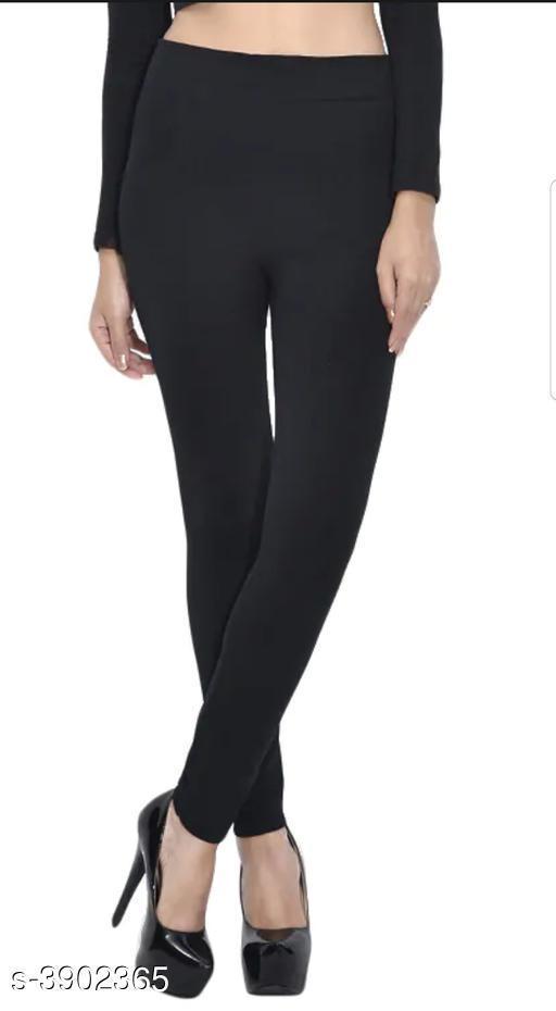 Attractive Solid Woollen Women's Legging