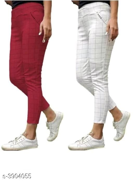 Tights New Comfy Cotton Women's Tights (Pack Of 2)  *Fabric* Cotton  *Size* Up To  26 in To 34 in ( Free size )  *Length* Up To 40 in  *Type* Stitched  *Description* It Has 2 Pieces Of Women's Tights  *Pattern* Checkered  *Sizes Available* Free Size, 26, 28, 30, 32, 34 *   Catalog Rating: ★4 (39)  Catalog Name: New Comfy Cotton Women's Tights (Pack Of 2) Vol 15 CatalogID_549385 C79-SC1036 Code: 024-3904055-