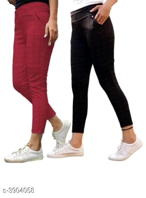 Tights New Comfy Cotton Women's Tights (Pack Of 2)  *Fabric* Cotton  *Size* Up To  26 in To 34 in ( Free size )  *Length* Up To 40 in  *Type* Stitched  *Description* It Has 2 Pieces Of Women's Tights  *Pattern* Checkered  *Sizes Available* Free Size, 26, 28, 30, 32, 34 *   Catalog Rating: ★4 (39)  Catalog Name: New Comfy Cotton Women's Tights (Pack Of 2) Vol 15 CatalogID_549385 C79-SC1036 Code: 024-3904058-