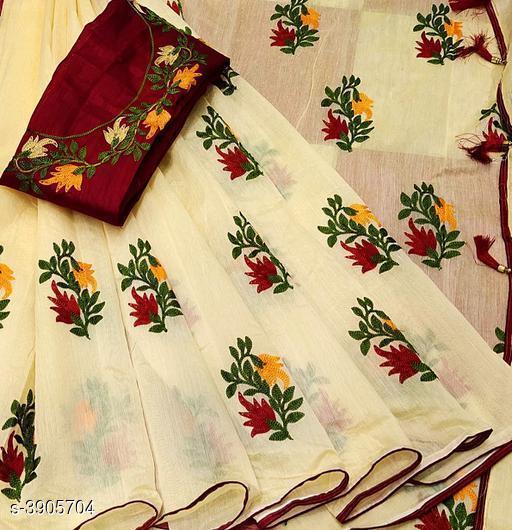 New Stylish Chanderi Silk Womens's Sarees