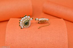 AD Studded Besar Clip Nath for Traditional Look
