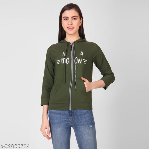 INSPIRE GREEN MEOW HOODIE SHIRT