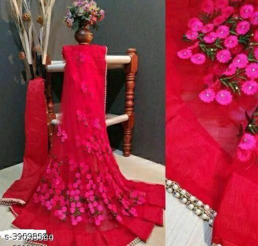 new catlog net saree red