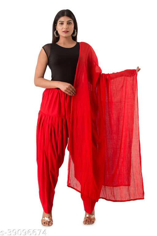 HNV STYLE Patiyala with Dupatta Set Relaxed Fit Punjabi Casual Patiyala Salwar for Woman