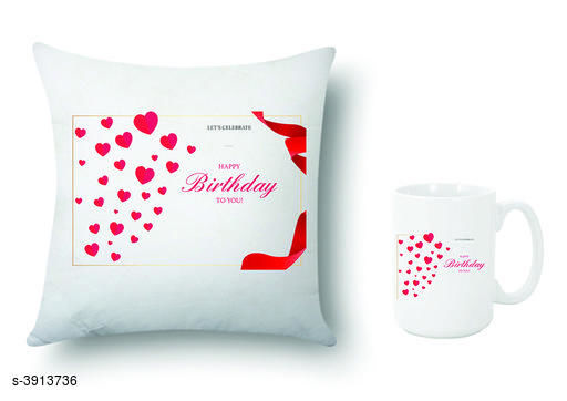 Trendy Mugs With Cushion Covers (Pack Of 2)