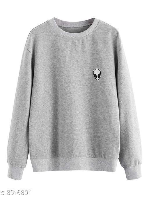 Eva Trendy Fleece Solid Women's Sweatshirts