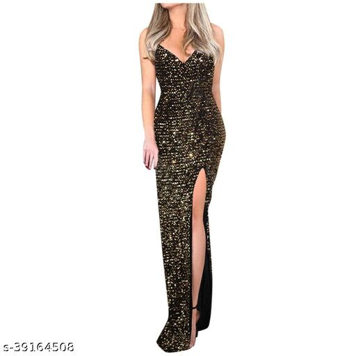 woaman's fancy sequence gown