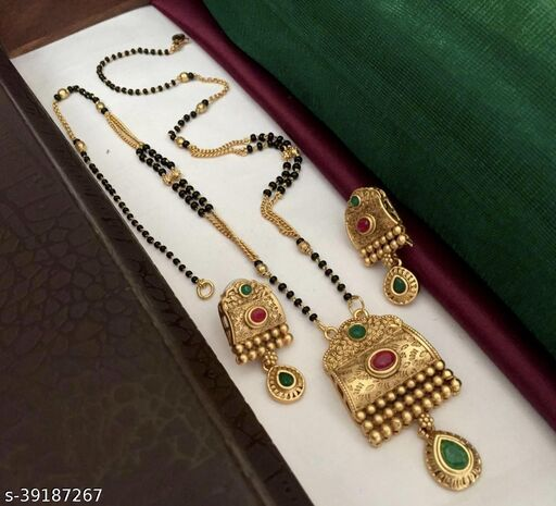 copper mate gold mangalsutra for women