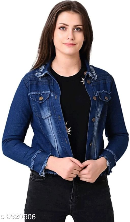 Blazers Denim Women's Jackets Denim Women's Jackets Country of Origin: India Sizes Available: XS, S, M, L, XL   Catalog Rating: ★4.2 (591)  Catalog Name: Attractive Denim Women'S Jackets Vol 2 CatalogID_552321 C79-SC1029 Code: 393-3920906-