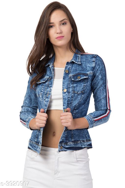 Blazers Denim Women's Jackets Denim Women's Jackets Country of Origin: India Sizes Available: XS, S, M, L, XL   Catalog Rating: ★4.2 (591)  Catalog Name: Attractive Denim Women'S Jackets Vol 2 CatalogID_552321 C79-SC1029 Code: 104-3920907-