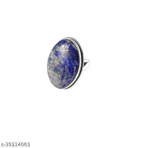 Lapis lazuli ring Natural Semi Precious Stone Lapiz Lazuli certified stone for men and women