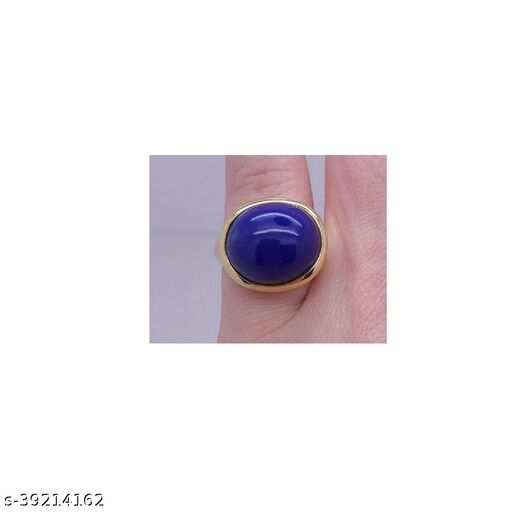 Lapis Lazuli Ring Original Good quality Stone semi Preciuos Certified and Astrological Purpose for men and women