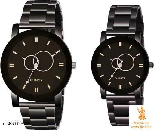 Smarty Stylish Stainless Steel Couple Watches