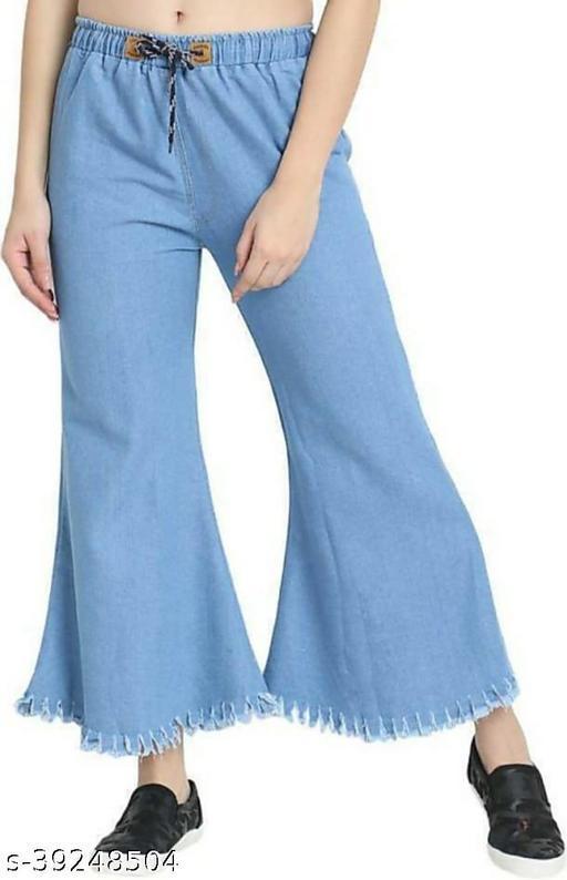 Trendy Flying Stylish Regular Fit Denim Blue Women Jeans For Girls