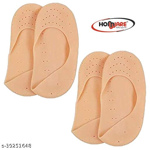 Homware Silicon Foot Care Anti Crack Moisturising Foot Socks Heel Support Pack of 2