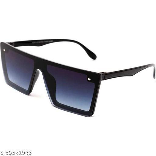 Flat Design Rectangular Sunglasses for Men & Women