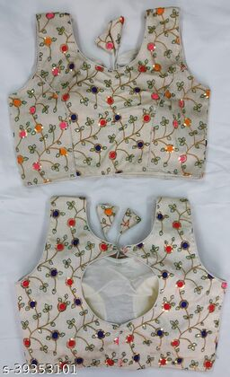 Beautiful Embroidered Sequence Work Full Stitched Blouse
