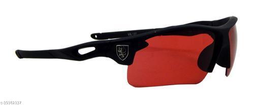 Els Men & Women, Unisex Sunglass, Sports, Black (YL1137-BL-RD-M)