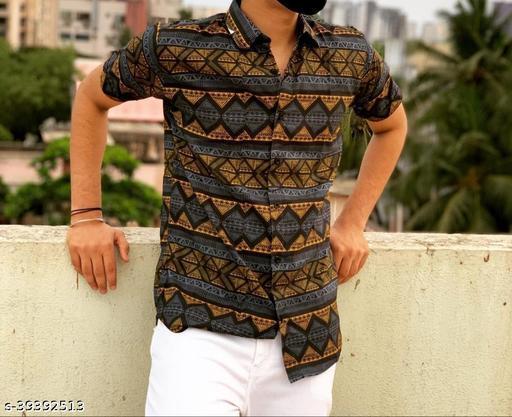 Trendy Designer Men Half Sleeve Shirt (Ready-Made)