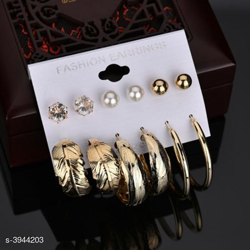 New Attractive Trendy Copper Women's Earrings