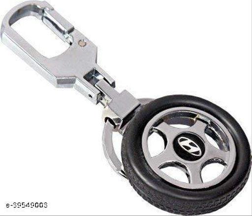 Hyundai Car Spinning Tyre Rotary Wheel Locking Metal Keychain/Keyring
