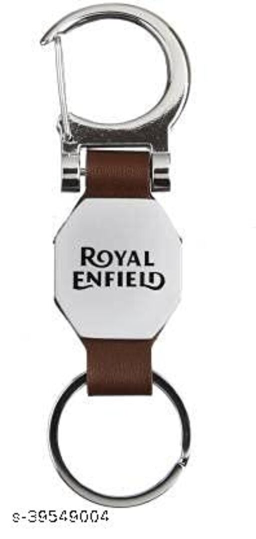 Royal Enfield Classic Bullet Bike Metal & Leather Keychain