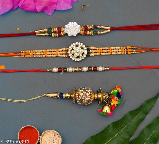 Shimmering Colorful Rakhi