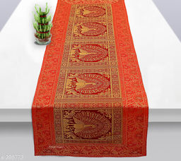 Colorful Poly Satin Table Runner (Red)