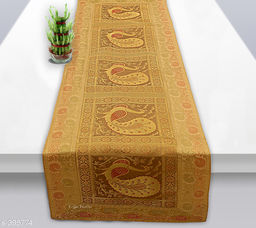 Colorful Poly Satin Table Runner (Beige)