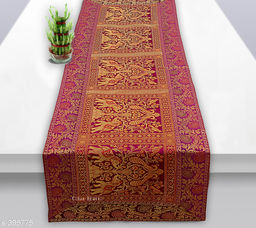 Colorful Poly Satin Table Runner (Purple)