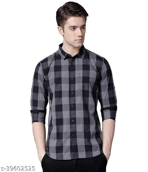 BLCK&GREY_CHEX Shirt Fabric