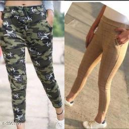 Gorgeous Polyester Lycra Women's Leggings Combo