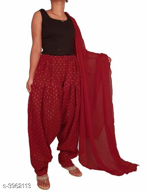Ethnic Bottomwear - Salwars & Chudidars Women's Cotton Salwars With Dupatta  *Fabric* Salwar - Cotton, Dupatta - Cotton  *Size* Salwar- 30 in ,32 in, 34 in, 36 in, 38 in, 40 in, 42 in , 44 in  *Length* Salwar - Up To 41 in, Dupatta  *Type* Stitched  *Description* It Has 1 Piece Of Women's Salwar with 1 Piece Of Women's Dupatta  *Pattern* Salwar -Printed, Dupatta - Solid  *Sizes Available* Free Size *    Catalog Name: Women's Cotton Salwar With Dupatta CatalogID_558897 C74-SC1017 Code: 505-3962113-