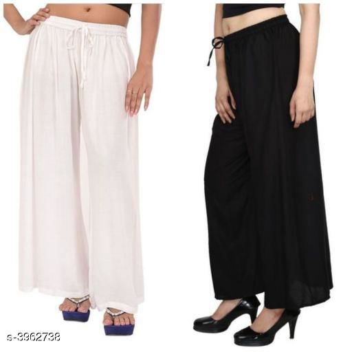 Gorgeous Rayon Women's Palazzos Combo (Pack Of 2)