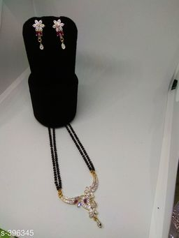 American Stone and Alluring Metal Mangalsutra