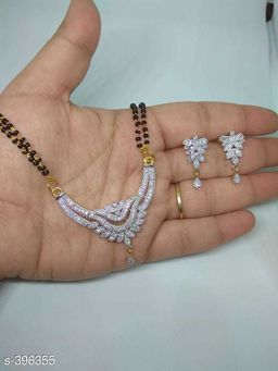 American Stone and Alluring Metal Mangalsutra Set